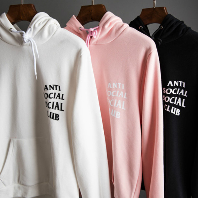 92fdb7d24287 Anti Social Social Club New Fashion Men Hoodies High Quality Brand Clothing  Hip-Hop 100