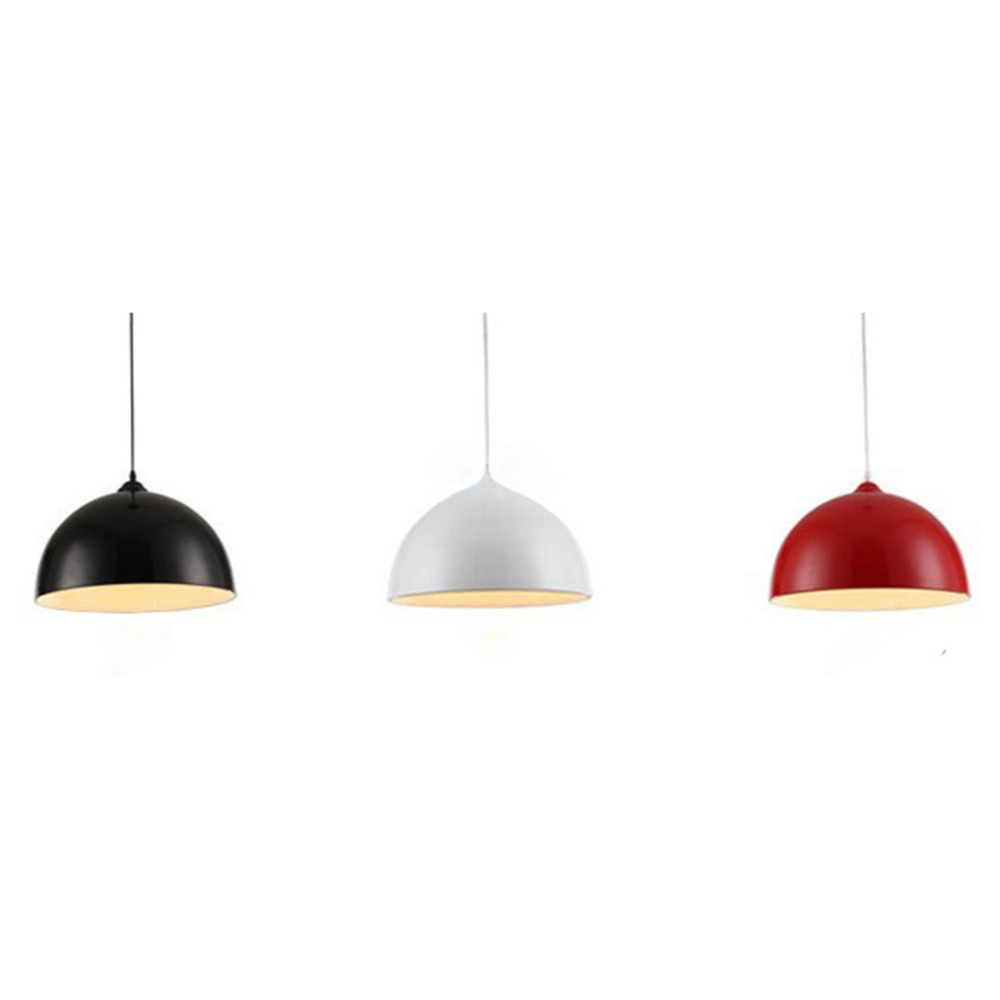 E27 Retro Style Black White Red Metal Ceiling Pendant Light Lamp Shade Lampshade White/Black/Red Super Deal! Inventory Clearance white black pink rose red purple wine red modern globe shade feather pendant light lamp indoor deco ceiling fixture lighting