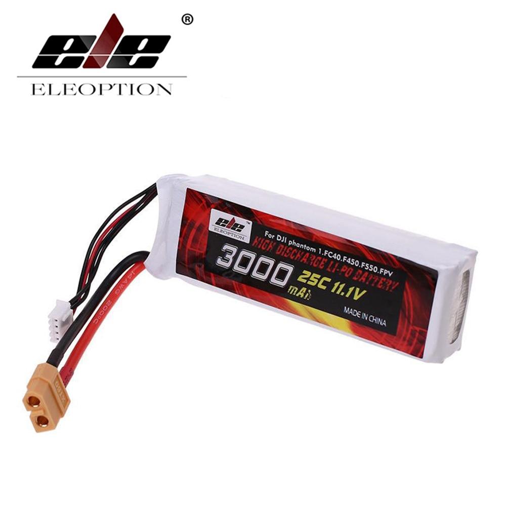 Plug para Dji Eleoption Lipo Li-po Bateria 25c Xt60 Phantom 1 Fc40 F45 F550 3000 Mah 11.1 v