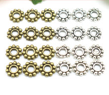 Jewelry finding & components parts Small spacer 6 mm Tibetan silver snowflakes Bronze bracelet sweater chain accessories #JZ528(China)