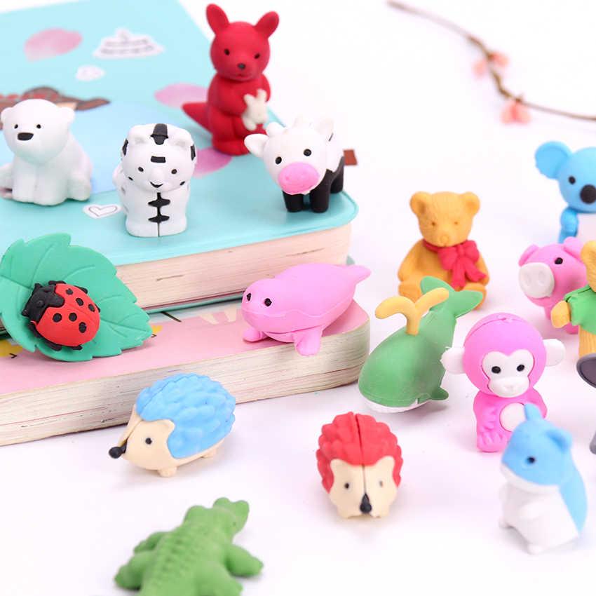 Cartoon animal mini cute eraser For kid rubber stationery L0C0 For V8U2