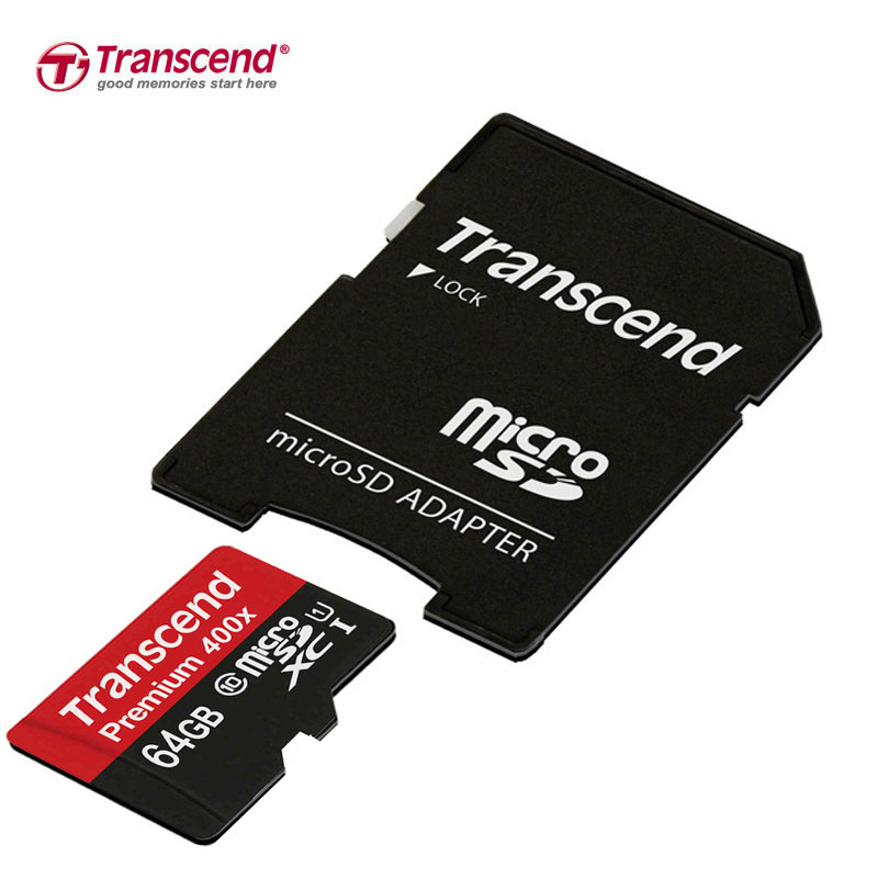 Prix pour Véritable Original Transcend Carte Micro Sd 64 GB Haute Vitesse 60 MB/s UHS-I 400X Carte Mémoire 64 gb Tarjeta Micro SD