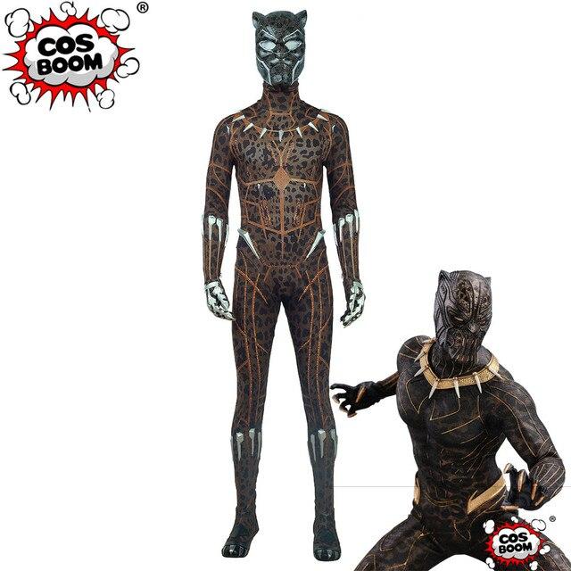 Cosboom Black Panther Costume Golden Jaguar Suit Men S Halloween