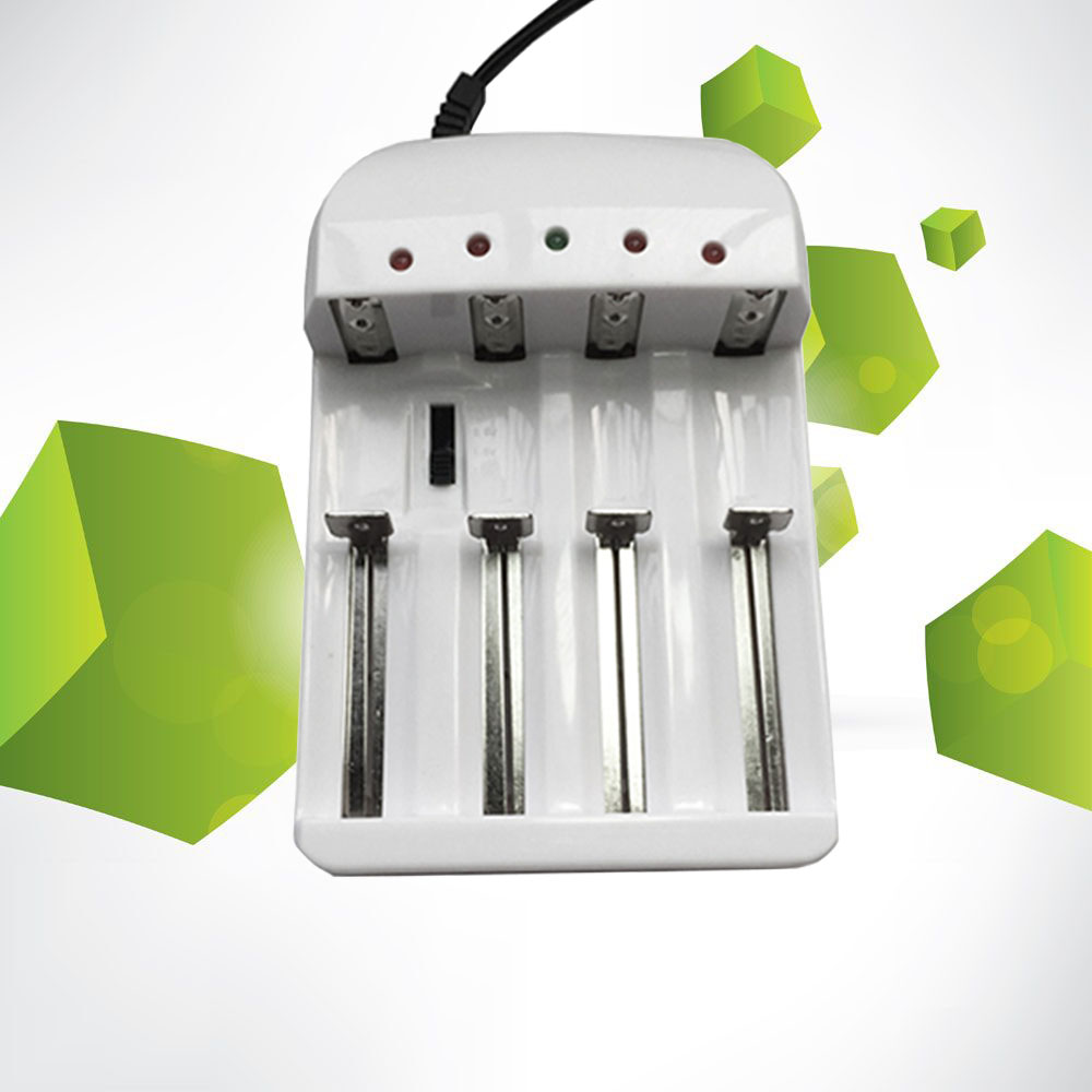 Cargador de batería para 18650 26650 14500 10440 AA AAA universal I4 inteligente li-ion/NiMH 18650/26650/AA /AAA cargador 4 fuera