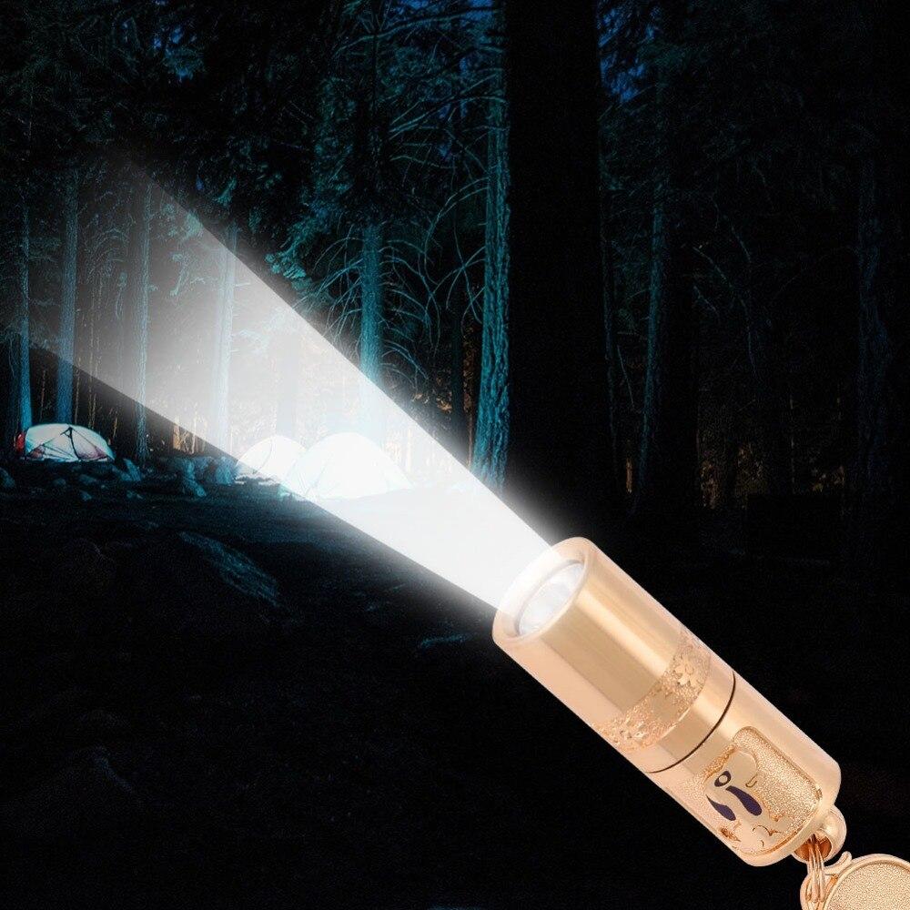 Mini Aluminium alloy Flashlight Torch Hang on the Key Ring for Hiking