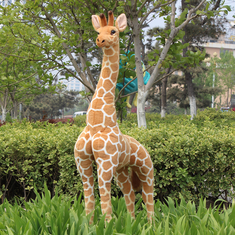 simulation animal larggest size 140cm standing giraffe plush toy , party ,activity decoration toy gift b4955 plastic standing human skeleton life size for horror hunted house halloween decoration