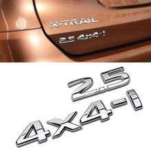 Auto Rear 2.5 4X4-i Decal For Nissan X-trail Tiida Altima Qashqai Leaf Juke Note T32 T31 Murano Displacement Sticker Decoration car styling wheel center cover stickers hub caps for nismo logo for nissan qashqai j11 j10 juke tiida almera x trail note sentra