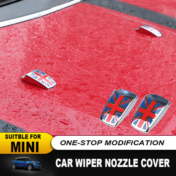 QIDIAN Car Wiper Water Spray Nozzle Caps Cover Sticker for Mini Cooper One S Clubman R55 R56 R59 R60 R61 F54 F55 F56 F60 Countryman Paceman