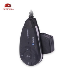 Bluetooth Interphone V5 Full Duplex 5 Riders 1200m Waterproof Motorcycle Intercom Helmet Interphone Moto Intercomunicador