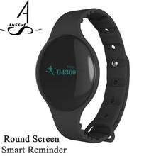 Ahssuf SmartBand умный будильник круглый Экран Спортивные Bluetooth вибрационные браслет вызова напоминание для мобильного телефона