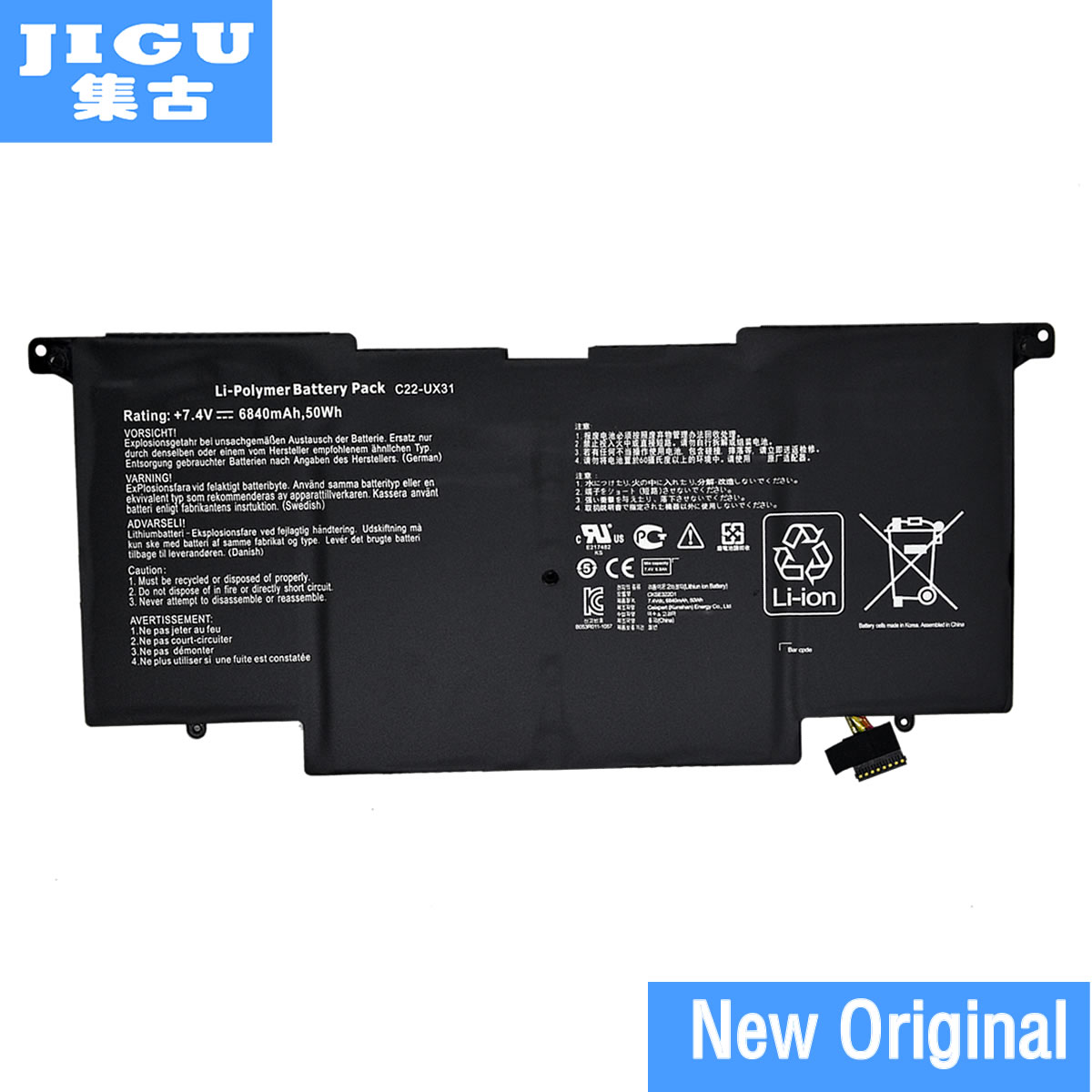 JIGU C22-UX31 C23-UX31 Original laptop Battery For Asus Ultrabook ZENBOOK UX31 UX31A UX31E 7.4V 6840MAH 50WH цена 2017