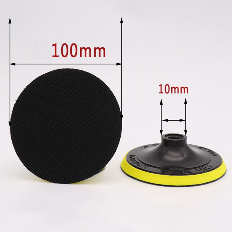 Clever 1pc 3 4 5 6 7 Polishing Self-adhesive Disc Polishing Sandpaper Sheet Adhesive Disc Chuck Angle Grinder Sticky Plate For Car Tools