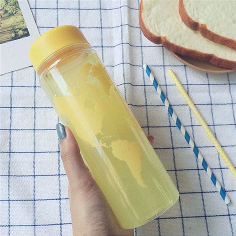 Best Quality Breakproof Bottle 7 Colors Sports Cycling Camping Readily Space Health Lemon Juice Make Water Bottle 500ml