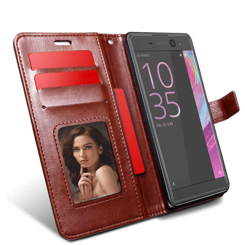 flip case for Sony Xperia XZ 1 2 XA1 Plus XA2 Ultra XA3 XZ1 Compact XZ2 XZ3 cover flip stand wallet for sony L1 L2 leather funda