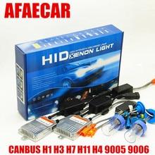 AFAECAR 55W super CANBUS Fast bright H7 H11 9005 H4 HID H1 H3 HB3 HB4 headlight