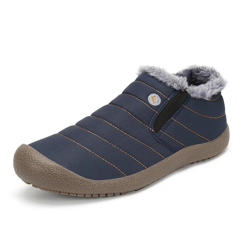 Hommes Bota Tissu Air De Bottes Étanche Chaud Taille La Masculina Noël Casual Plein Hiver Homme Neige Plus Appartements Noir En gris Chaussures bleu qq6pUw