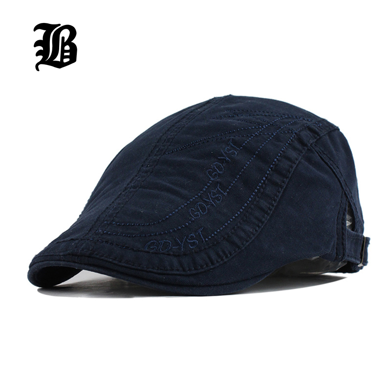 [FLB] New Summer Fitted Cotton Berets Caps For Men Casual Peaked Caps letter embroidery Berets Hats Casquette Cap