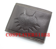 The Legend of Zelda Majora's Mask Leather pu bifold black Two buttons purse