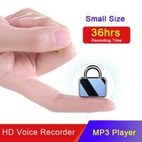 36 stunden Lange Aufnahme Keychain HD Mini Professionelle Digitale Audio Voice Stift Recorder 8G/16G/32G MP3 WAV Player Erwachsene Kinder-in Digitales Diktiergerät aus Verbraucherelektronik bei