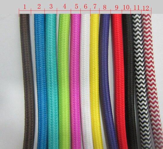 Aliexpress Com Buy 5 M Vintage Cable 2 0 75 Textile