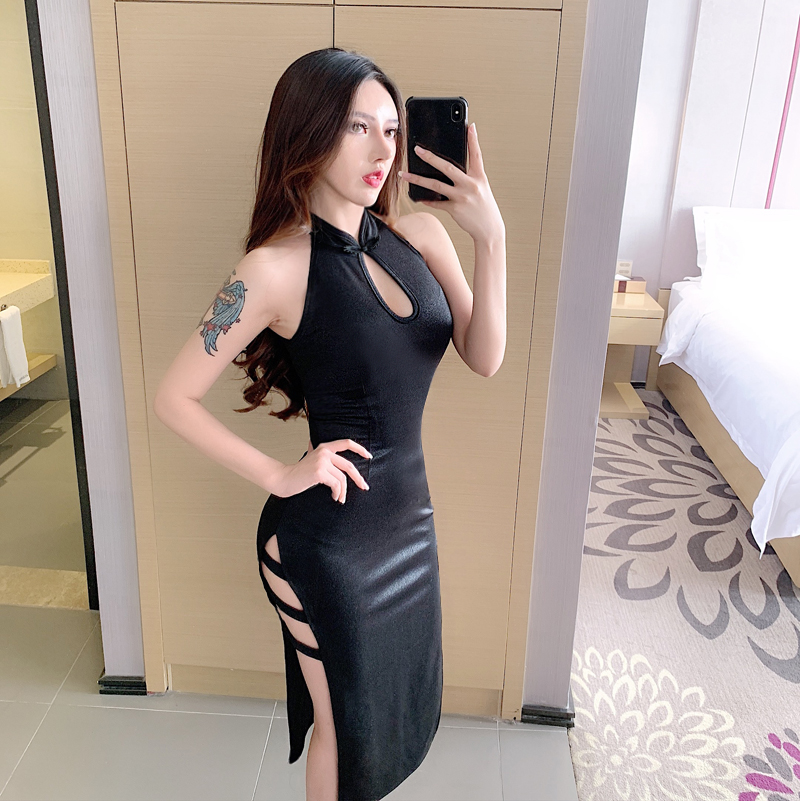 US $28.47 33% OFF|2020 silk traditional chinese dress women sleeveless vestidos vintage qipao sexy cheongsam flower print party|Cheongsams| |  - AliExpress