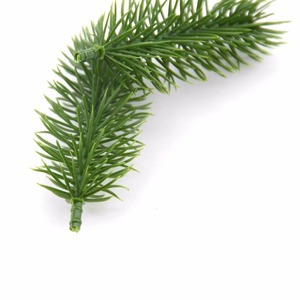 Image 5 - 10pcs Artificial Plastic Green Pine Plants Branches Wedding Home Party Decorations DIY ChristmasTree Handcraft Accessories