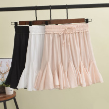 GTGYFF sexy summer stretch high waist ruffle chiffon skirt for women skirts pants