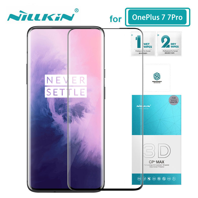 Tempered Glass For OnePlus 7T Pro 7T Nillkin CP+ Max Full Cover Screen Protector OnePlus 7 Pro 3D Glass