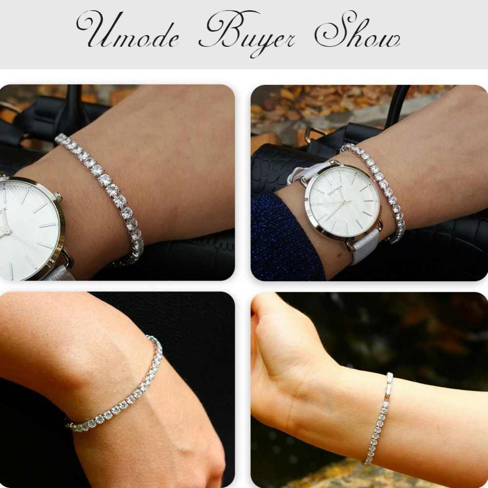 UMODE 5 Colors Cubic Zirconia Tennis Bracelet & Bangles For Women Christmas Gifts New Fashion Lady Jewelry Pulseras Mujer UB0097