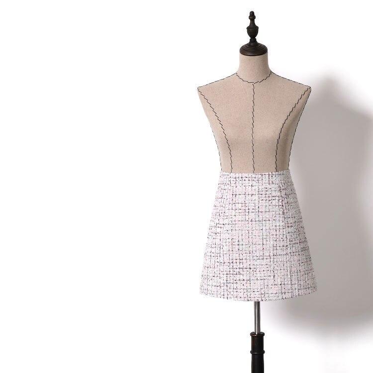 Nouvelle Laine à carreaux jupe ins super chaude version haute ceinture fesse automne hiver Un en forme de jupe