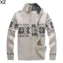 Free shipping 2016 Fashion Winter Wool Cardigan Masculino Men's Casual Thick Warm Sweater Men