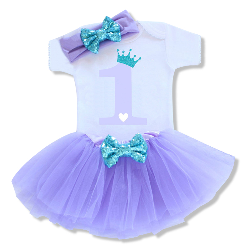 HTB19sV8SpXXXXatapXXq6xXFXXXi - 0-12M Infant Baby Girl Clothes 4pcs Clothing Princess Dresses Stocking Headband Newborn Kid Clothes First Birthday Party Outfits