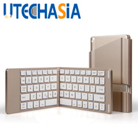 Foldable Wireless Bluetooth Keyboard Mini Portable Keypad Suitable For Laptops Tablet PC Mobile Phones Bluetooth Connectivity