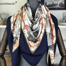 100% Silk Scarf Women Square Scarves Wraps