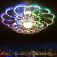 LumiParty Luxueux Lustre En Cristal LED Plafond Lampe Lumière Colorée 5 W Encastré pour Couloir Chambre Cuisine Décor jk15