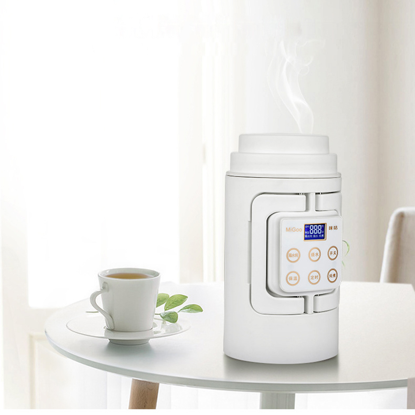 Portable Mini Electric Kettle Water Travel Camping Water Boiler Automatic Heating Travel Kettle Coffee Milk Stainless