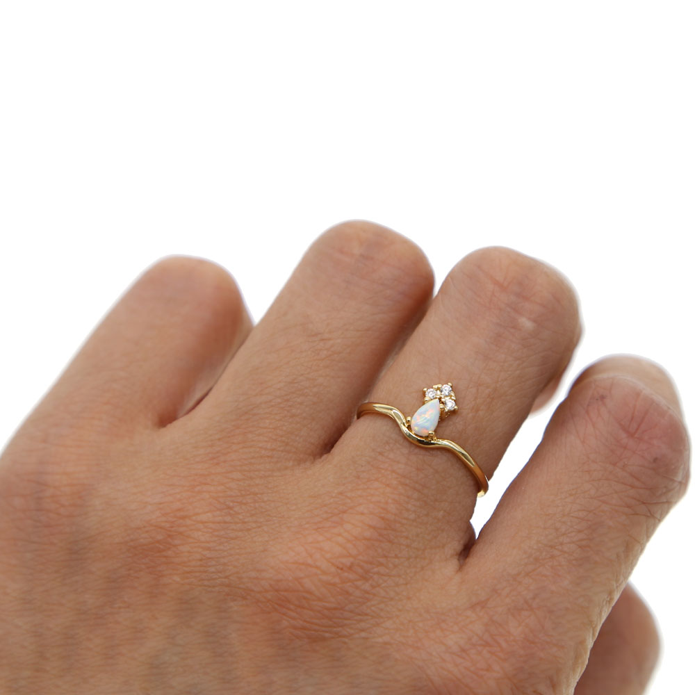 jewellery anna wedding gold ring dainty rings rei thin band product simple lightweight rose