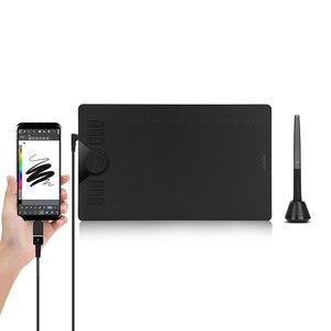 Image 1 - HUION HS610 grafik Tablet dijital kalem Tablet telefon çizim tableti Tilt ile OTG pil ücretsiz Stylus Android Windows için macOS