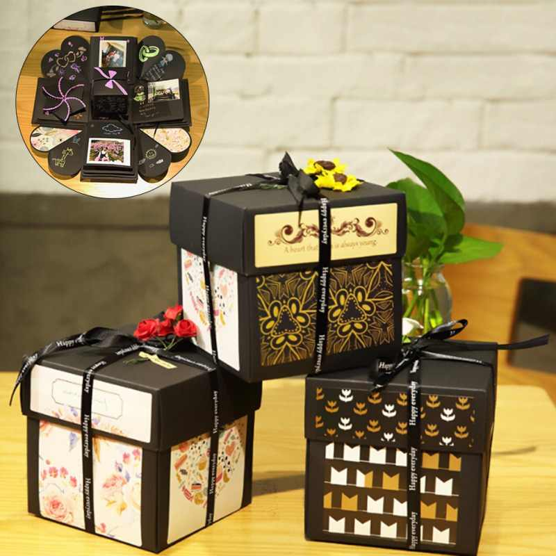 DIY Album Agency Gift Box Surprise Explosion Box Manual Creative Birthday Gift Festive Party Supplies