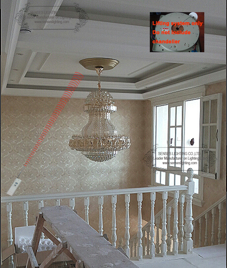 Ddj50 4m Remote Controlled Lowering System Chandelier