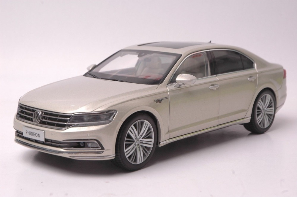1:18 Diecast Model for Volkswagen VW Phideon 2016 Gold Alloy Toy Car Collection Gifts автомобиль bburago 1 18 gold volkswagen touareg 18 12002