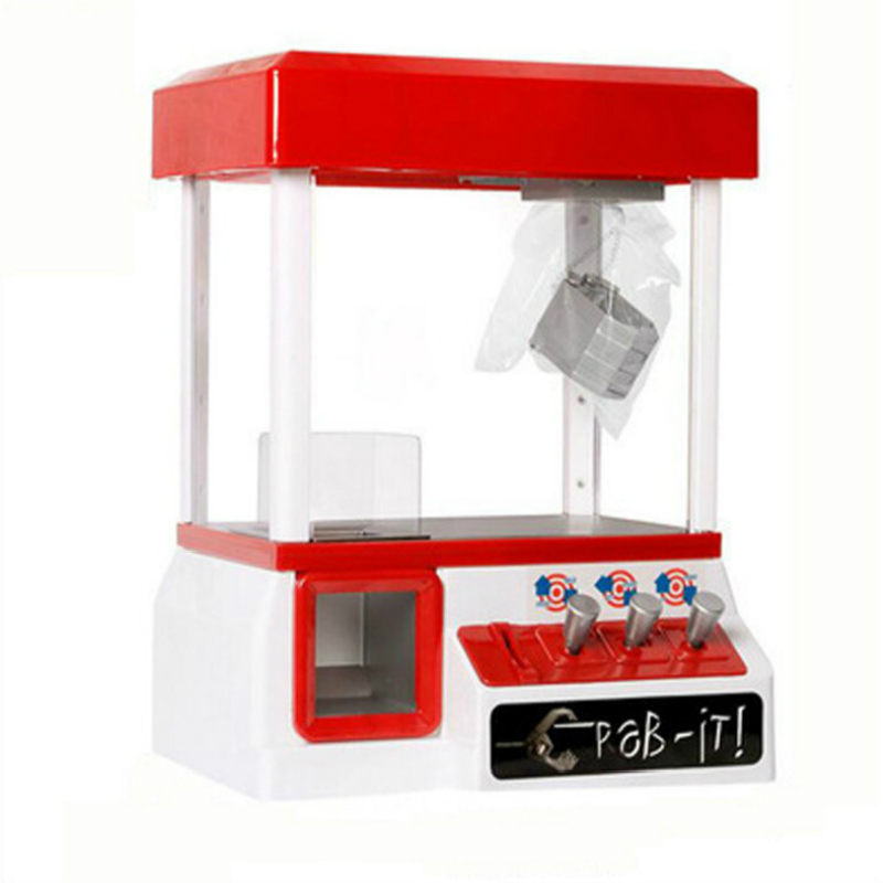 Portable Arcade Candy Grabber Machine Motorized Claw Game Doll Candy Crane Kids Toys Coin Operated Game