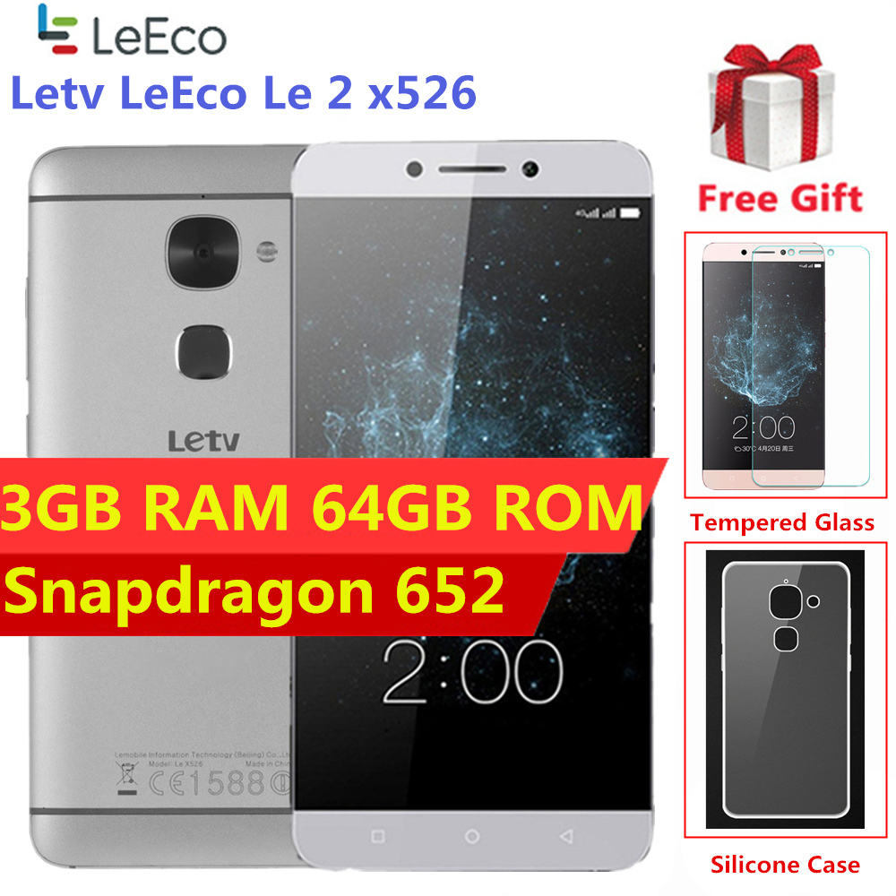 Global Firmware Letv LeEco Le 2 X526 X520 4G LTE Smartphone Snapdragon 652 Cellphone 3GB 64GB