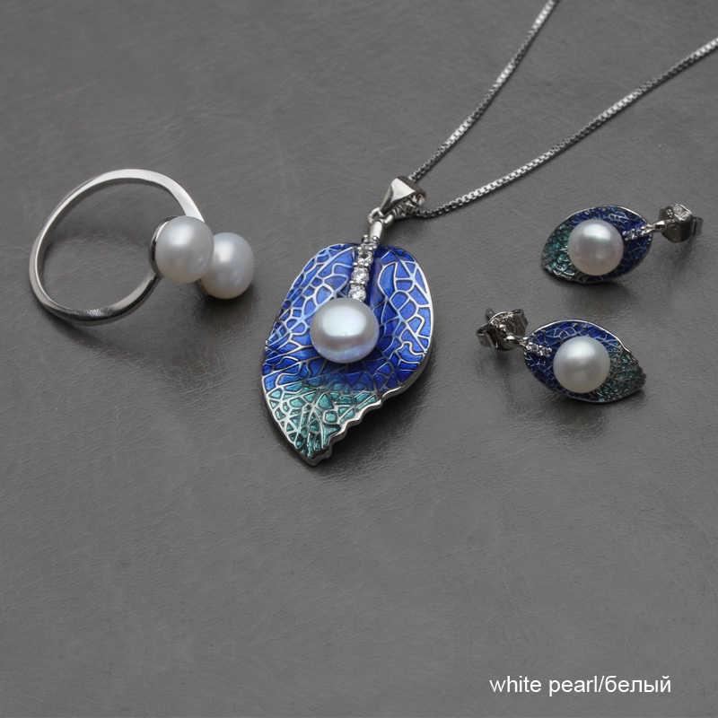 Đẹp Thật Tự Nhiên Bộ Trang Sức Ngọc Trai Nữ, Cưới Dây Chuyền Ngọc Trai Nước Ngọt Bộ Bông Tai Quà Kỷ Niệm