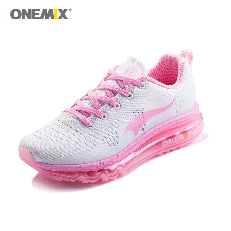 ONEMIX femme chaussures de course sport de plein air baskets respirant femmes marche Jogging baskets en été Trekking chaussures en rose