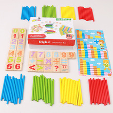 Newest Children Wooden Montessori Materials Learning To Count Numbers Matching box Early Education Teaching Math Toys