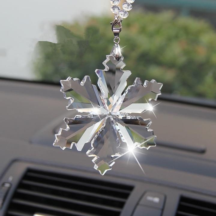 Estilo de coche Exquisito Cristal transparente Grandes Copos de nieve - Accesorios de interior de coche - foto 2