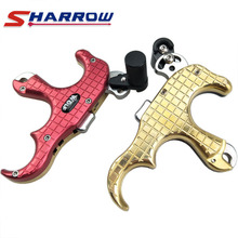 Sharrow 1 Piece 3 Fingers Grip Compound Bow Arrow Release Tool Archery Accessory for Hunting Shooting