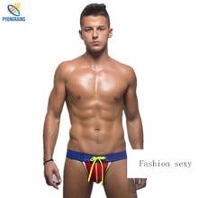 2015 Mens Jockstraps Jock Straps Thongs G Strings Popular Brand Sexy Men Underwear Gay Fashion Design Penis Pouch
