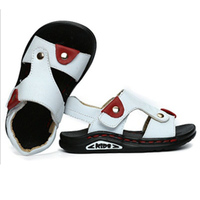 Summer Boys Sandals Genuine Leather Children Beach Sandals Rubber Anti Slip Sapato Infantil Patchwork Light Kids
